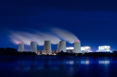Lignite power plant Stock Images