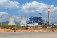 Lignite power plant under construction Stock Images