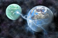 Ligntning planet Royalty Free Stock Photography