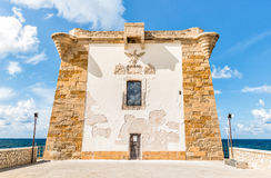Ligny Tower facade in Trapani, Italy. Stock Image
