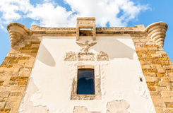 Ligny Tower facade in Trapani, Italy. Stock Photography