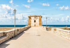 Lignytoren in Trapan, Sicilië Stock Afbeeldingen
