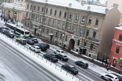 Ligovskiy avenue St. Petersburg winter Royalty Free Stock Images
