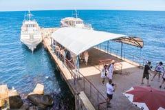 Ligplaats voor schepen Royalty-vrije Stock Foto