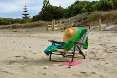 Ligstoel laat in de dag Royalty-vrije Stock Afbeelding