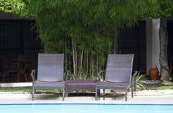 Ligstoelen Royalty-vrije Stock Fotografie