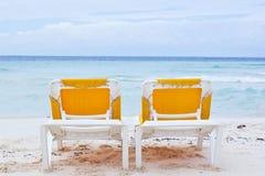 Ligstoelen Stock Fotografie