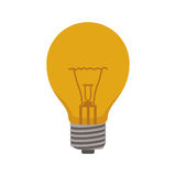 Ligth bulb electric with caps and filaments. Vector illustration Royalty Free Stock Images