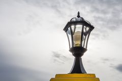 Ligth lamp,LED light post on the fence,temple estate,beauty mode Stock Images