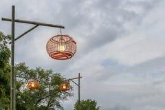 ligth lamp,LED light post on the street,industrial estate,beauty model