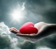 Ligth på din hjärta arkivfoto