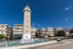 Ligthouse在亚历山德鲁波利斯、东部马其顿和色雷斯,希腊镇  免版税库存图片