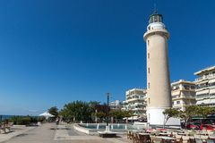 Ligthouse In Town Of Alexandroupoli, East Macedonia And Thrace, Greece Stock Images