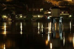 Ligthouse na noite. Imagem de Stock