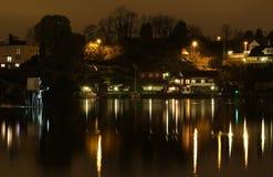 Ligthouse nella notte. Fotografie Stock