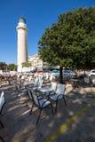 Ligthouse w miasteczku Alexandroupoli, Wschodni Macedonia i Thrace, Grecja Zdjęcie Royalty Free
