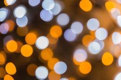 Ligths Defocused del árbol de navidad Fondo de Bokeh Fotografía de archivo libre de regalías