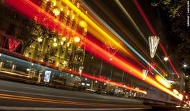 Ligths em Barcelona Fotografia de Stock
