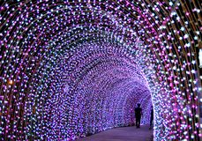 Free Ligting Tunnel In Christmas Stock Photography - 143601842