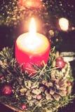 Ligts de Noël de bougie Photographie stock libre de droits