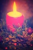 Ligts di Natale della candela Fotografie Stock Libere da Diritti