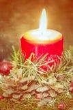 Ligts di Natale della candela Fotografia Stock