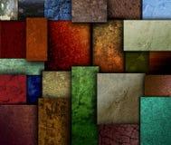 Ligue à terra testes padrões do quadrado da textura do tom Imagem de Stock