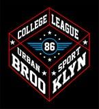 Ligue Brooklyn, image d'université de vecteur Photo stock