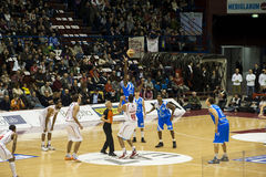 Ligue de basket-ball italienne Photo libre de droits