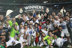 LIGUE 2014 DE CHAMPION DU REAL MADRID VAINQUEUR Photo stock