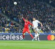 Ligue de champions d'UEFA : FC Dynamo Kyiv v Benfica Photo stock