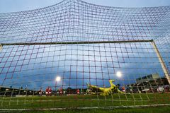 Ligue de correspondance de premier ministre Division de l'Irlande entre Cork City FC contre le FC sportif de St Patrick images libres de droits