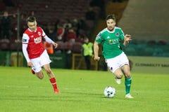 Ligue de correspondance de premier ministre Division de l'Irlande entre Cork City FC contre le FC sportif de St Patrick photos stock