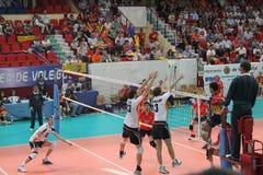 Ligue del europeo del partido del voleibol Imagen de archivo libre de regalías