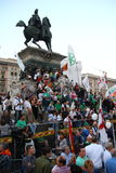 Ligue du nord Milan October 18, 2014 Image stock