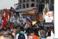 Ligue du nord Milan October 18, 2014 Image libre de droits