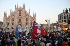 Ligue du nord Milan October 18, 2014 Images stock