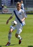 Ligue Moravian-Silésienne, joueur de football Matej Biolek illustration de vecteur