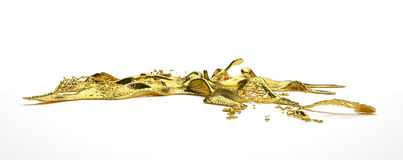 Liguid gold Stock Photography