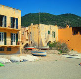 Ligurië (Italië) - huis op strand royalty-vrije stock fotografie