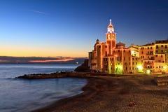 Liguria - Camogli at evening Royalty Free Stock Photos