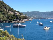Liguria coast Italian Riviera royalty free stock photo