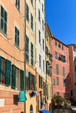 Liguria - homes in Camogli Royalty Free Stock Photography