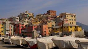 Liguria Italien, Genoa Boccadasse cityscape lager videofilmer