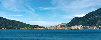 Liguria Italy - Cityscape of Porto Venere Stock Photography