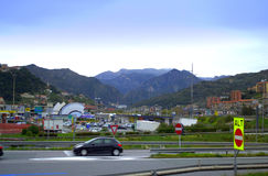 Liguria krajobrazu widok, włoszczyzna Riviera Obrazy Stock