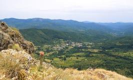 Liguria mountain range, Val d& x27;Aveto view - Santo Stefano d& x27;Aveto - Groppo Rosso. Italy Stock Images
