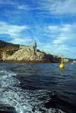 Liguria. Portovenere view of the church of St. Peter Stock Photo