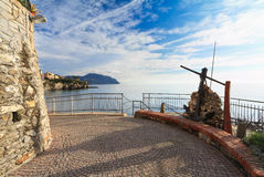 Liguria - promenade in Sori Royalty Free Stock Photography