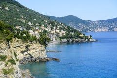 Liguria, RIviera di Levante. Liguria (Italy), Riviera di Levante, the coast between Genoa and La Spezia at summer Royalty Free Stock Images